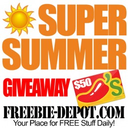 FREE Super Summer Giveaway – FREE Chili's Gift Contest – Through 7/15/15