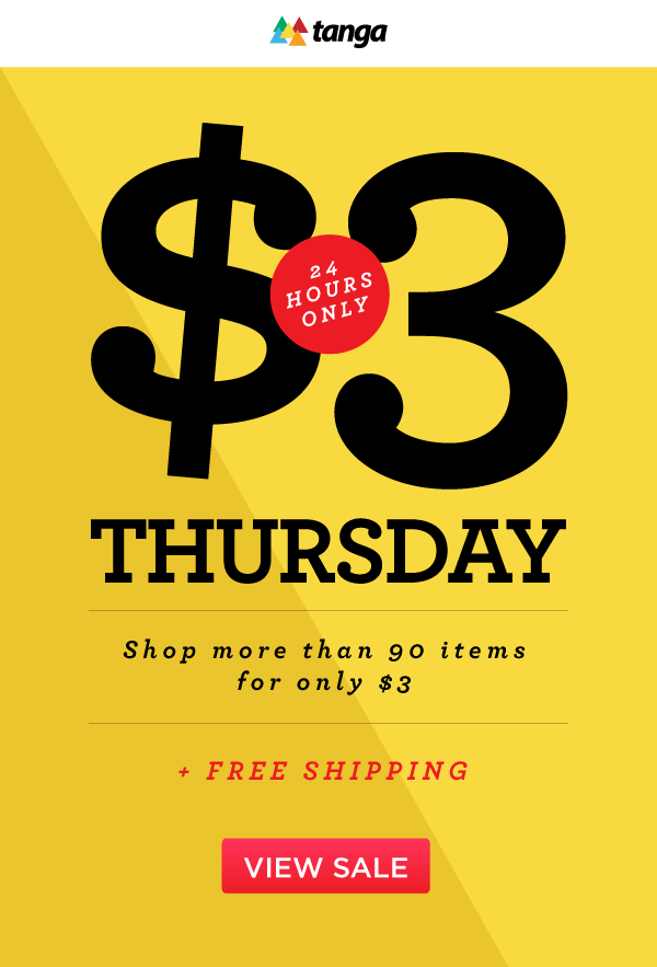 $3 Thursday Sale