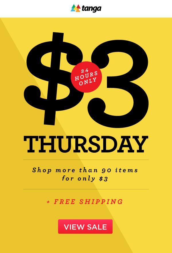 $3 Thursday Sale
