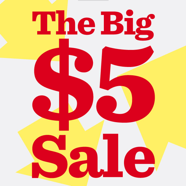 The Big $5 Sale – FREE Shipping | Freebie Depot