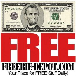 FREE $5 Cash Bonus – Fast, Simple, FREE!