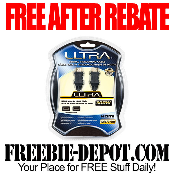 Free After Rebate 12 Ft HDMI