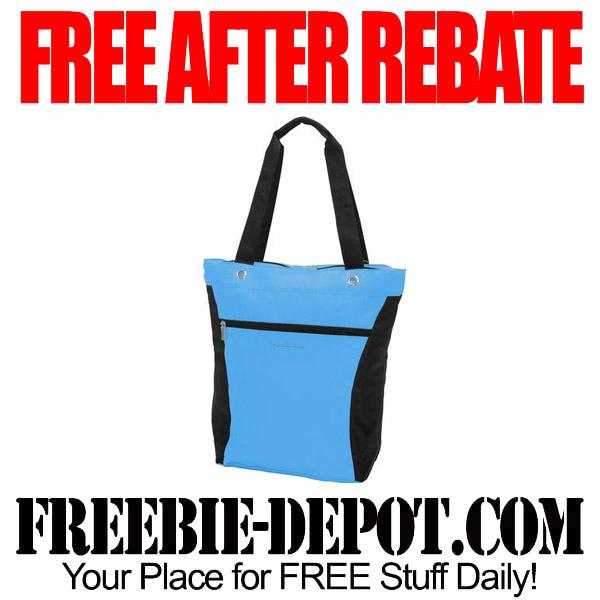 Free After Rebate Blue Tote Bag