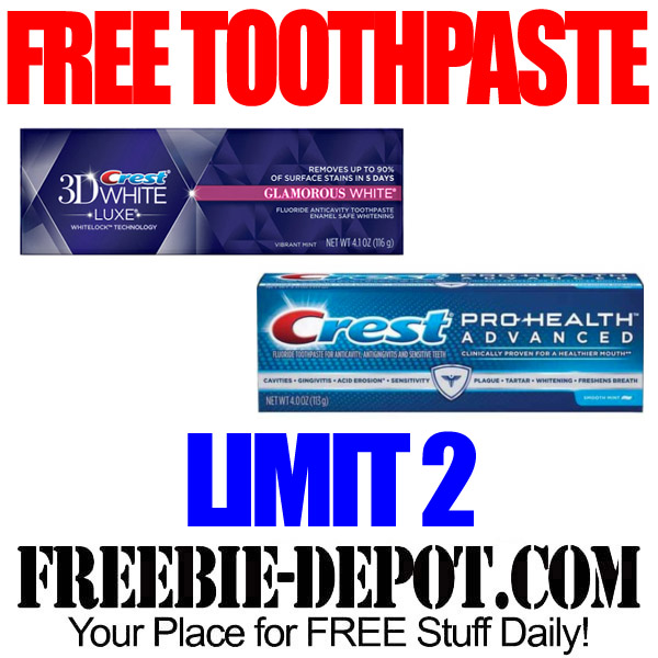 Free After Rebate Crest Toothpaste
