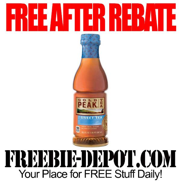 Free After Rebate Gold Peak Tea