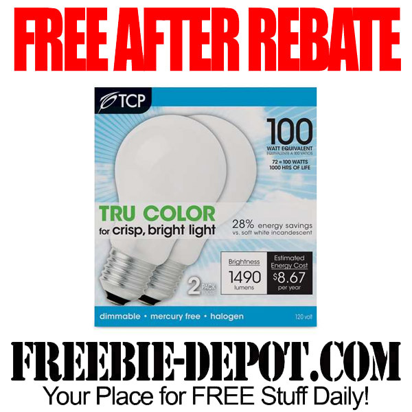 Free After Rebate Halogen Bulbs