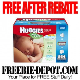 ✱✱✱ FREE AFTER REBATE – Huggies Natural Care Wipes + Carry Case ✱✱✱