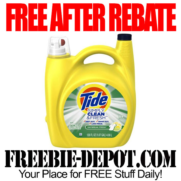 Free After Rebate Tide Laundry Soap
