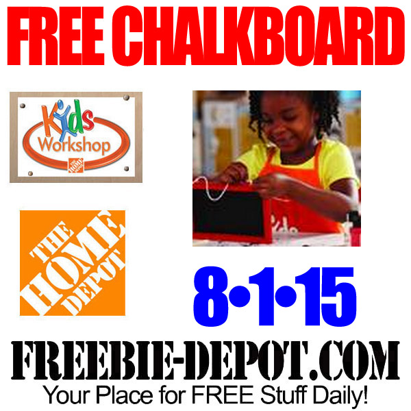 Free Chalkboard at Home Depot