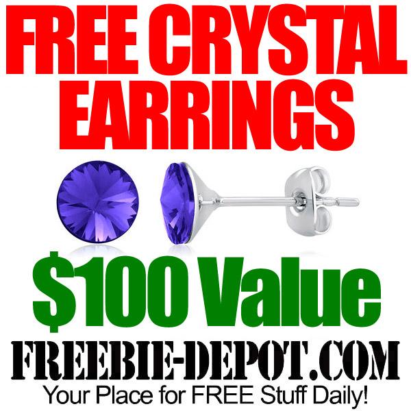 Free Swarovski Crystal Earrings