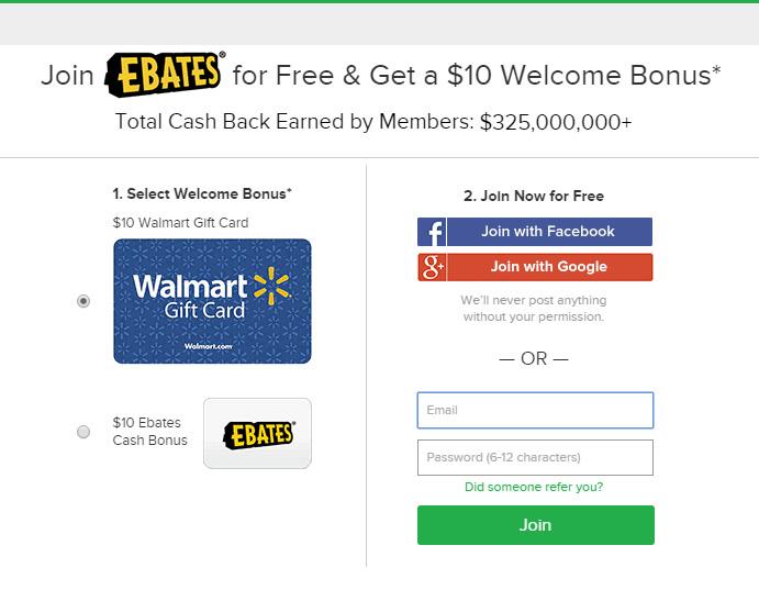 Free Ebates Cashback Bonus