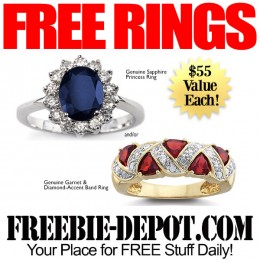 ►► HOT ►► 2 FREE Gemstone Rings – $110 Value – LIMITED TIME!