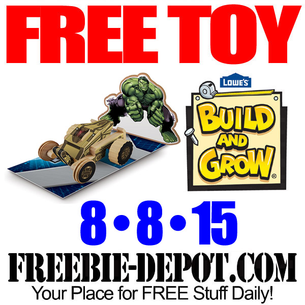 Free Toy Building at Lowe's