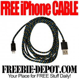 FREE 10-Foot Fabric Braided iPhone 5/6 Cable – Black or White – $19.99 Value