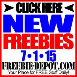 NEW FREEBIE HOTLIST – FREE Stuff for July 1, 2015