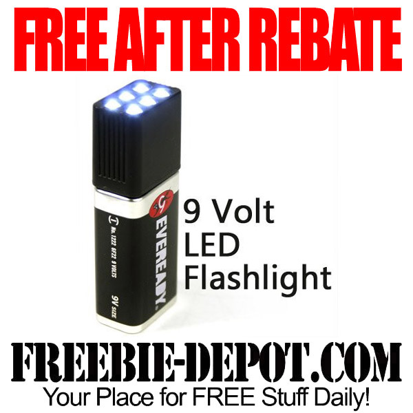 Free After Rebate LED Flashlight with FREE Battery