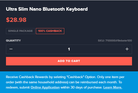 Free Bluetooth Keyboard After Rewards and Rebate