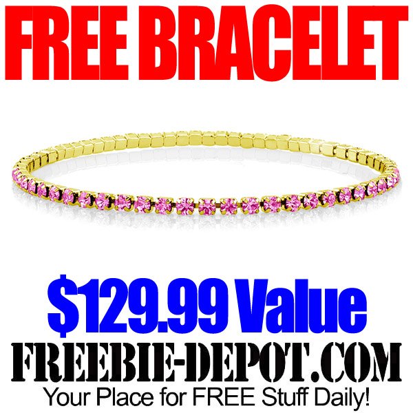 Free Swarovski and Gold Bracelet