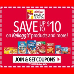 FREE Kellogg's Family Rewards – FREE Rewards, Cereal Coupons, Recipes, Special Offers, Promotions