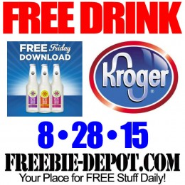 FREE IZZE Sparkling Water – Kroger Freebie Friday Download – FREE Digital Coupon – 8/28/15