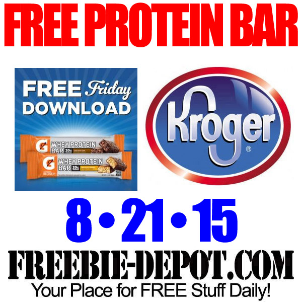 Free Kroger Protein Bar Gatorade with Coupon