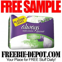 FREE SAMPLE – Always Discreet Underwear & Liner Sample Packs