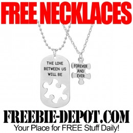 FREE Puzzle Necklace His and Hers – 2 Piece Set – $90 Value – LIMITED TIME!