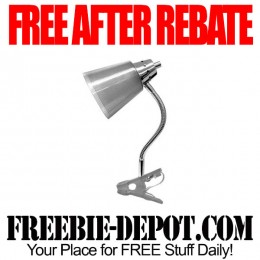 FREE AFTER REBATE – Clip Lamp and Bulb from Walmart – Exp 9/8/15
