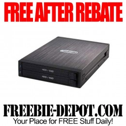 FREE AFTER REBATE – RAYGO Dual 2.5″ Internal HDD/SSD Enclosure for 3.5″ Bay – Exp 9/3/15