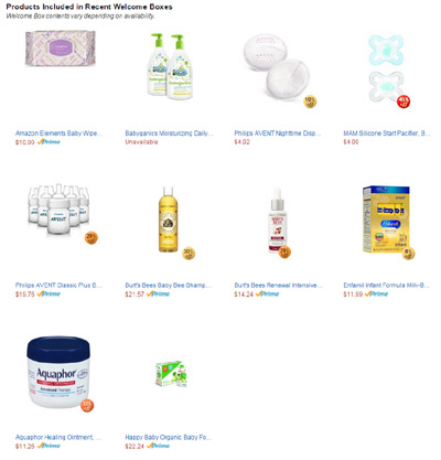 Free Amazon.com Baby Items