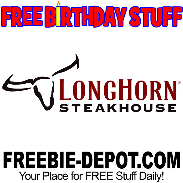 graphic about Longhorn Steakhouse Printable Coupons identify BIRTHDAY FREEBIE Longhorn Steakhouse Freebie Depot