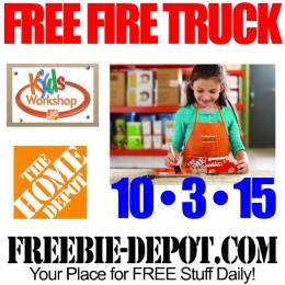 Free-Home-Depot-Fire-Truck