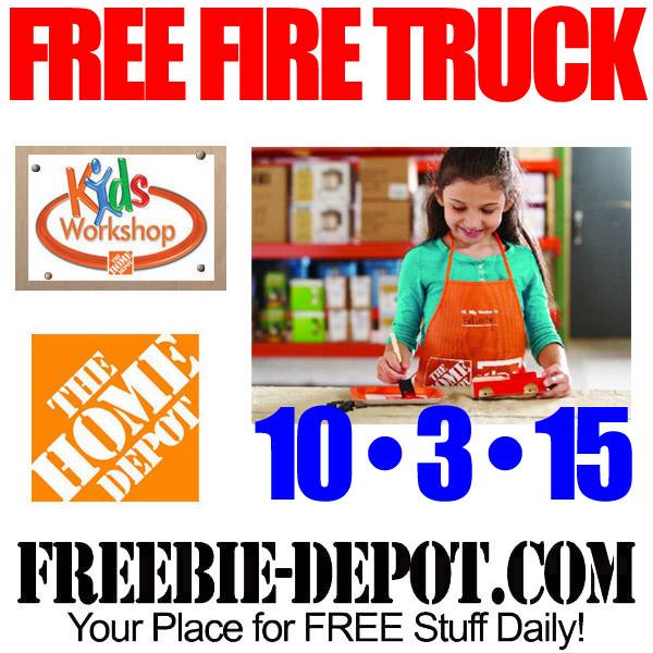 Free Fire Truck At Home Depot Free Kid Workshop Free