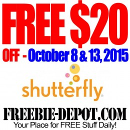 FREE $20 OFF $20 at Shutterfly – FREE Photo Gift