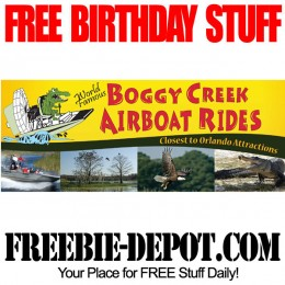 FREE BIRTHDAY STUFF – Boggy Creek Airboat Rides – Kissimmee, Florida
