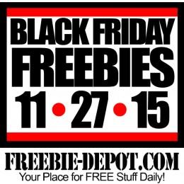 FREE Black Friday Stuff 2015 – 11/27/15 – Black Friday Freebies