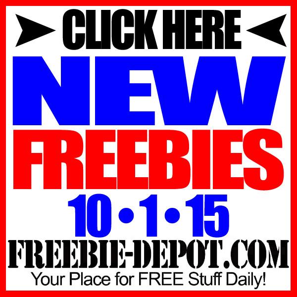 NEW FREEBIE HOTLIST – FREE Stuff for October 1, 2015