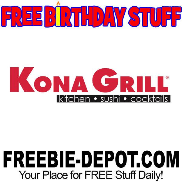 BIRTHDAY FREEBIE – Kona Grill