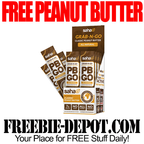 FREE Peanut Butter from PBGO – Up to 30 Stickpacks!