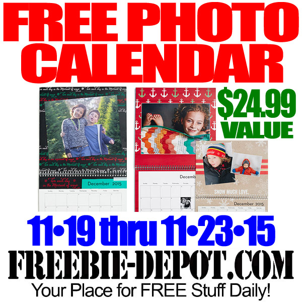 FREE Photo Wall Calendar – $24.99 Value – Exp 11/23/15