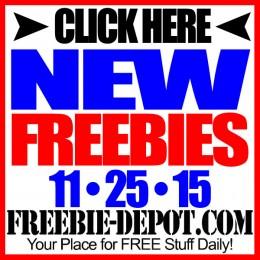 NEW FREEBIE HOTLIST – FREE Stuff for November 25, 2015