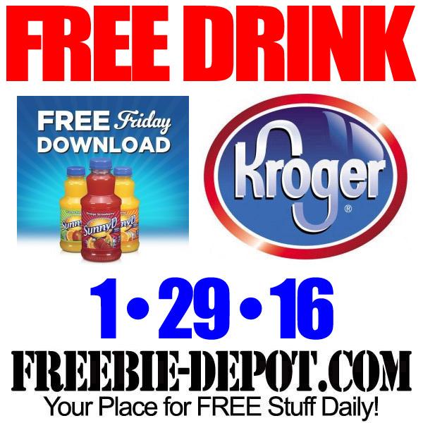 FREE SunnyD Drink – Kroger Freebie Friday Download – FREE Digital Coupon – 1/29/16
