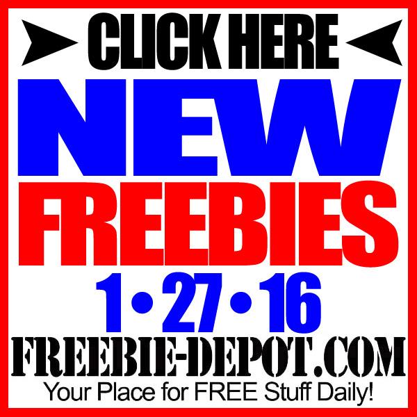 NEW FREEBIE HOTLIST – FREE Stuff for January 27, 2016