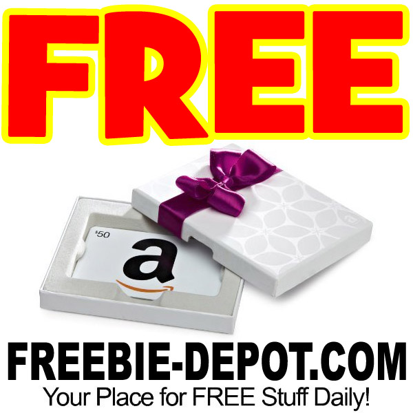 FREE $50 Amazon Gift Card – USE IMMEDIATELY!