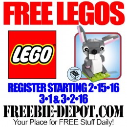 FREE LEGO Mini Model Build – FREE Bunny at LEGO Stores – FREE LEGO Toy – 3/1 & 3/2/16 – Registration Starts 2/15/16