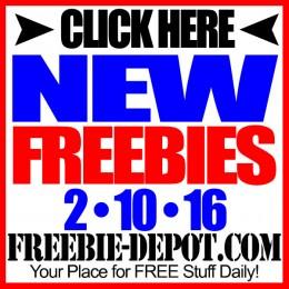 NEW FREEBIE HOTLIST – FREE Stuff for February 10, 2016