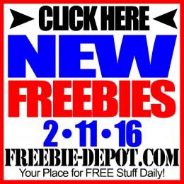 NEW FREEBIE HOTLIST – FREE Stuff for February 11, 2016