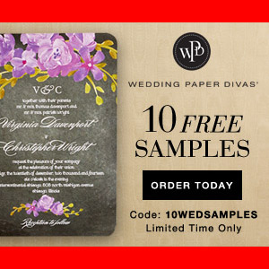 10 FREE Stationery Samples from Wedding Paper Divas + 30% OFF