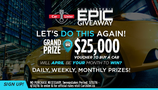 Sweepstakes to enter for cars