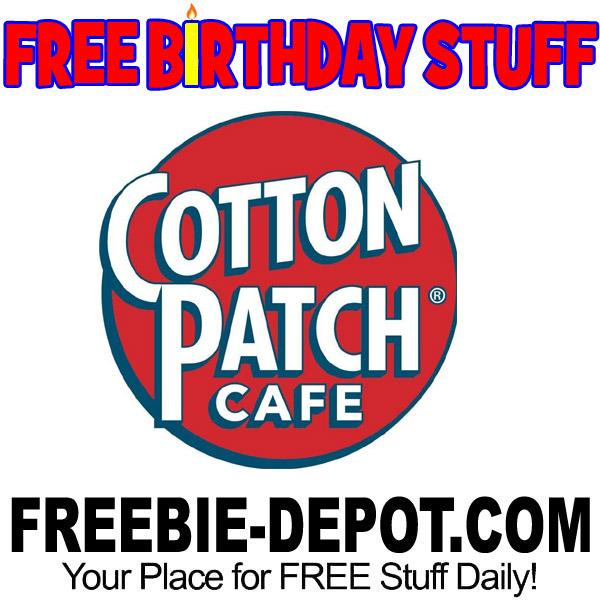 BIRTHDAY FREEBIE – Cotton Patch Cafe
